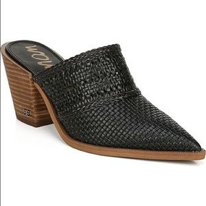 Sam Edelman Lillianna Black Leather Mule Boot 7.5M